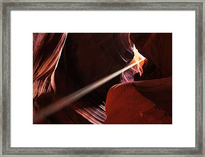 Framed Print featuring the photograph Beams Of Light by Dan Myers