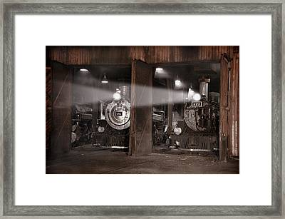 Beams Of Light Framed Print by Ken Smith