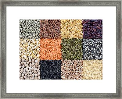 Beans And Pulses Framed Print