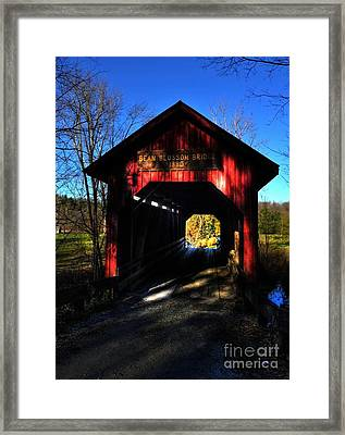Bean Blossom Bridge 2 Framed Print by Mel Steinhauer
