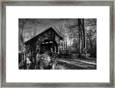 Bean Blossom Bridge Bw Framed Print