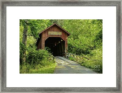 Bean Blossom Covered Bridge Framed Print