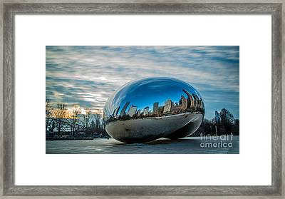 Bean Sunrise Framed Print