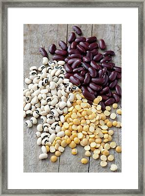 Beans And Lentils Framed Print by Gustoimages