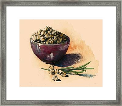 Beans Chickpeas Framed Print by Alessandra Andrisani