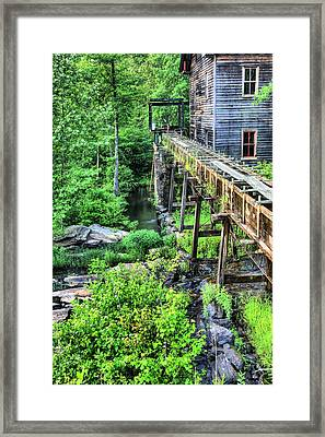 Bean's Gristmill And Sawmill Framed Print