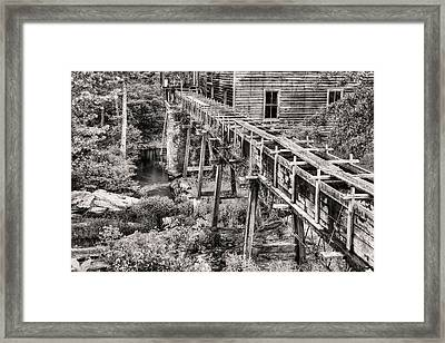 Bean's Mill In Black And White Framed Print