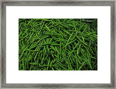 Green Beans Framed Print