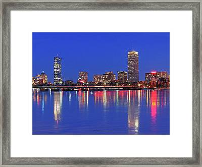 Beantown City Lights Framed Print by Juergen Roth