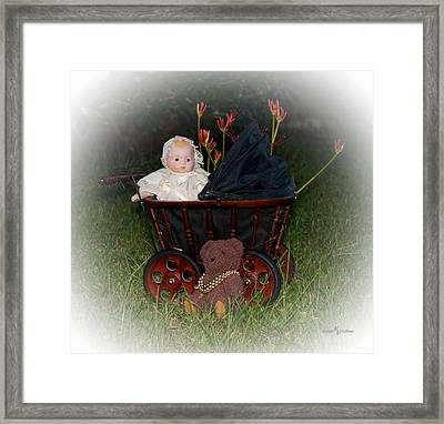 Bear And Baby Framed Print by Mechala  Matthews