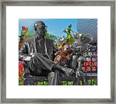 Bear And His Mentors Walt Disney World 03 Framed Print by Thomas Woolworth