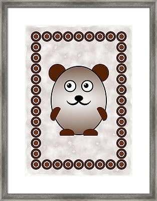 Bear - Animals - Art For Kids Framed Print