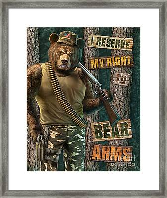 Bear Arms Framed Print by JQ Licensing Jeff Wack