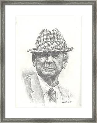 Bear Bryant 3 Framed Print