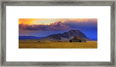 Framed Print featuring the photograph Bear Bute  by Kadek Susanto