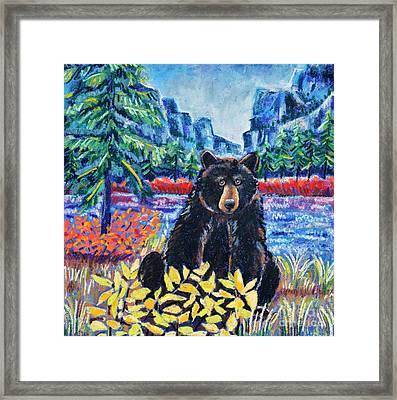 Bear By The Lake Framed Print by Harriet Peck Taylor