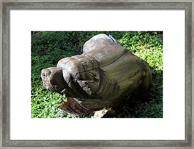 Bear Carving 1 Framed Print