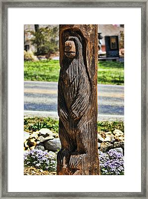 Bear Carving Framed Print