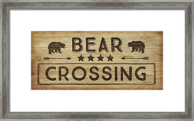 Bear Crossing Framed Print by Jennifer Pugh