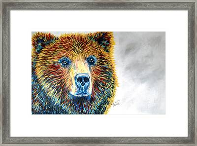 Bear Daze Framed Print by Teshia Art