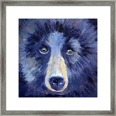 Bear Face Framed Print by Nancy Merkle