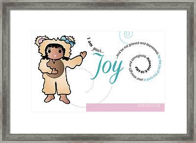 bear fruit -Joy Framed Print by Affini Woodley