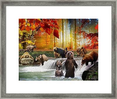 Bear Heaven Framed Print
