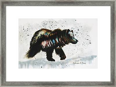 Bear Hunter Framed Print by Anderson R Moore