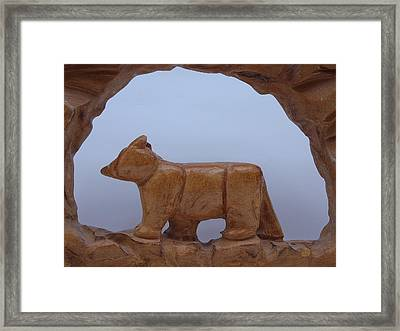 Bear In A Cave Framed Print by Robert Margetts