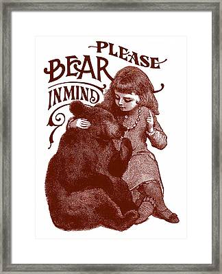 Bear In Mind Framed Print by Dale Michels