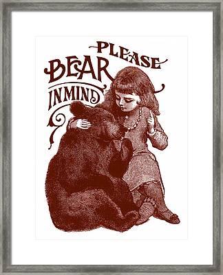 Bear In Mind Framed Print