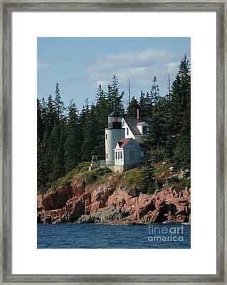 Bear Island Lighthouse Framed Print by Kathleen Struckle