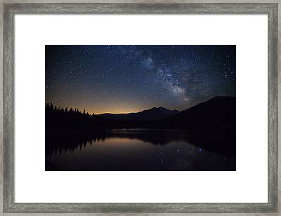 Bear Lake Milky Way Framed Print by Darren  White