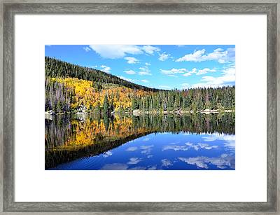 Bear Lake Reflection Framed Print