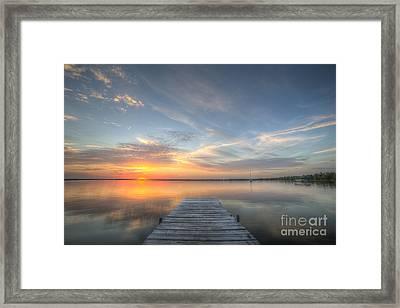 Bear Lake Sunset Framed Print