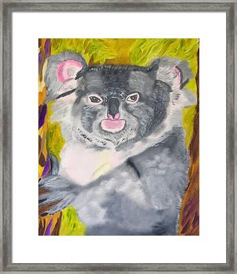 Koala Hug Framed Print