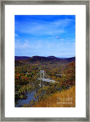 Bear Mountain Bridge From Camp Smith Trail Framed Print
