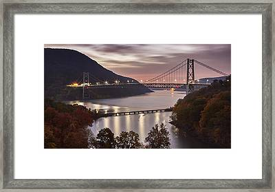 Bear Mountain In The Fall Framed Print