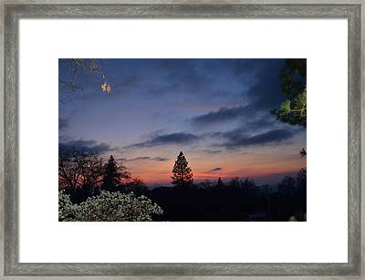 Bear Mountain Peaking Framed Print