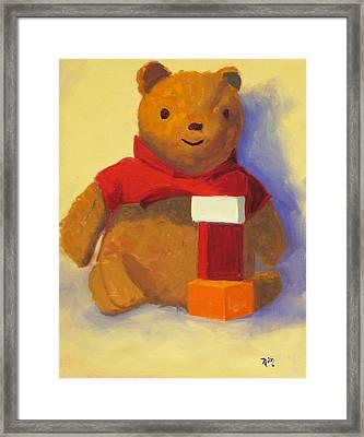 Bear Framed Print by Nancy Merkle