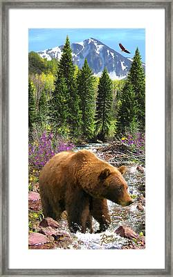 Framed Print featuring the painting Bear Necessities by Doug Kreuger