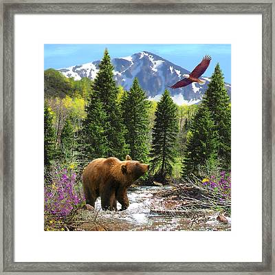 Bear Necessities Ill Framed Print