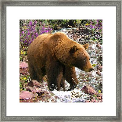 Framed Print featuring the painting Bear Necessities II by Doug Kreuger