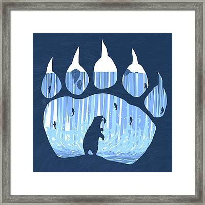Bear Paw Framed Print