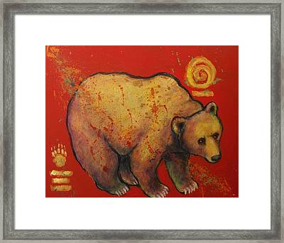 Bear Paw Grizzly Bear Framed Print