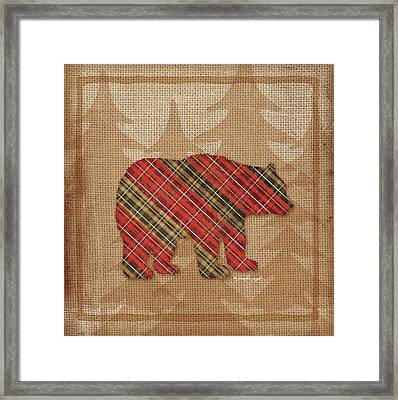 Bear Plaid Framed Print by Jennifer Pugh