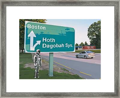 Framed Print featuring the painting Bear Right For Hoth by Scott Listfield