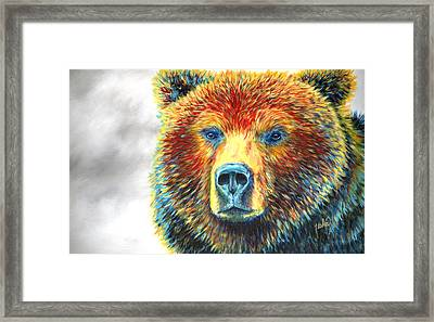 Bear Thoughts Framed Print by Teshia Art