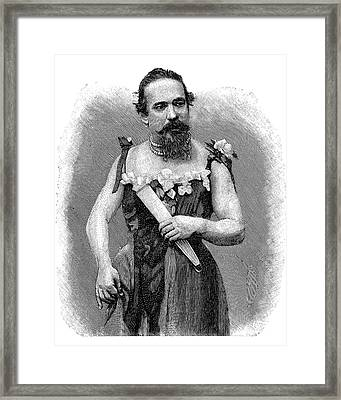Bearded Lady Framed Print by Science Photo Library