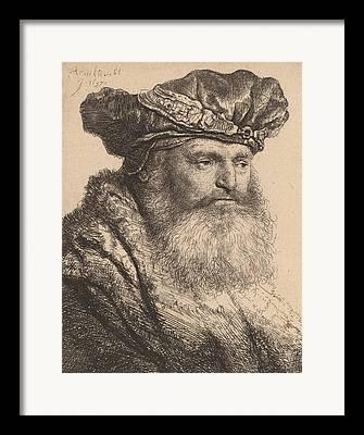 Head And Shoulders Drawings Framed Prints